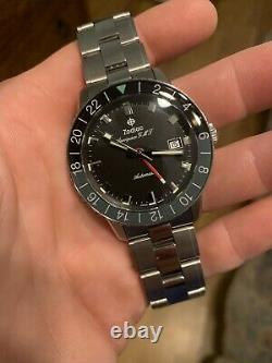 Zodiac Aerospace GMT Z09400 Automatic Limited Edition 40mm Mens Watch Stunning